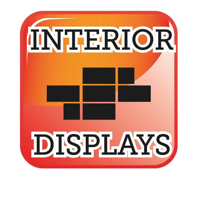 Interior displays, reception wall coverings, wall boarding, wall art and wall graphics