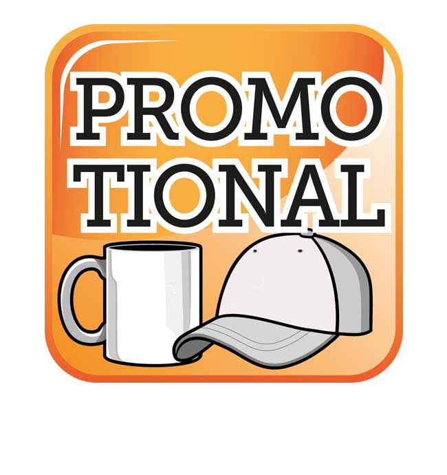 Promotional items, printed mugs, personalised items, caps, beer mats, bags etc.
