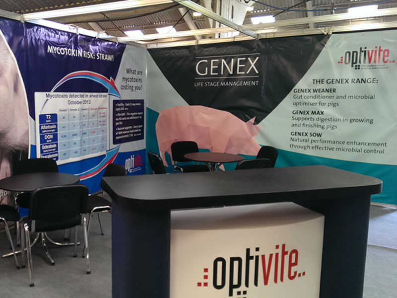 Trade stand displays designed and printed at Burgess Design and Print, retford, Worksop, Notts